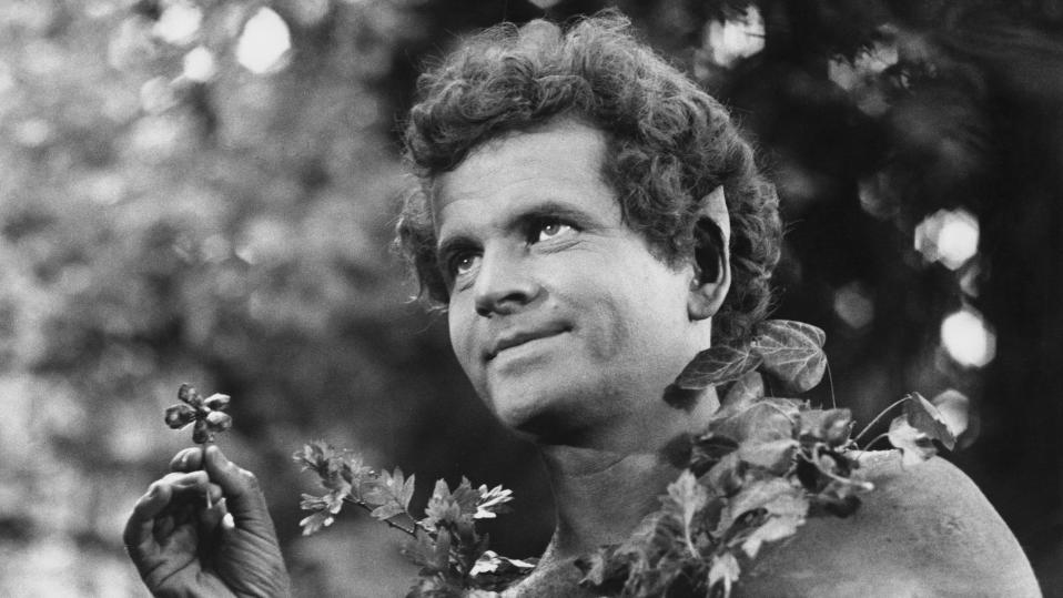 Ian Holm as Puck in a film version of Shakespeare's play 'A Midsummer Night's Dream' in 1968. (Photo by David Farrell/Getty Images)