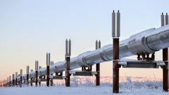 pipeline with snow