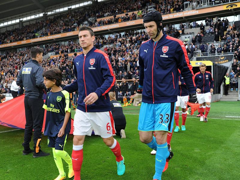 Laurent Koscielny and Petr Cech could return to the Arsenal side to face Middlesbrough: Getty