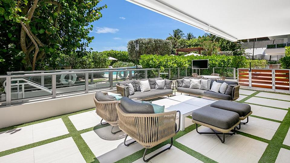 The first-floor terrace. - Credit: Photo: Courtesy of The Carroll Group