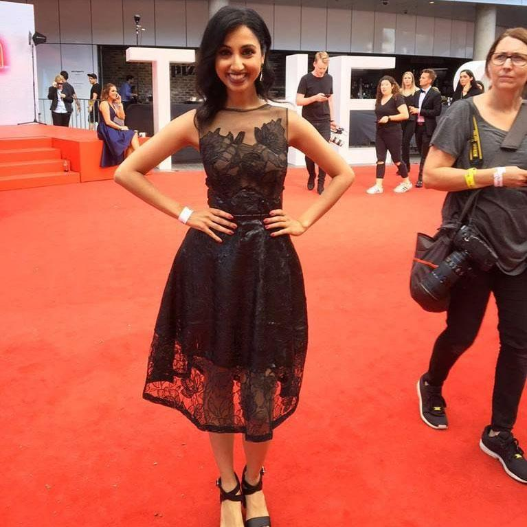 Voila, ready for the red carpet wearing a dress from Gather & Stitch Couture. Source: Supplied