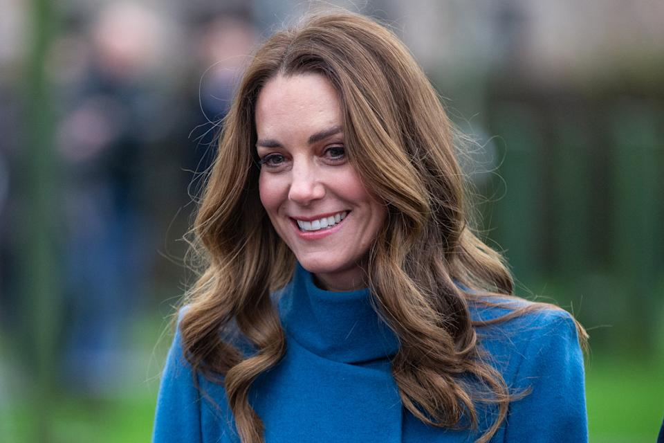Kate Middleton joined Prince William to speak about the positive impact of Covid-19 vaccines in a Zoom call. (Getty Images)