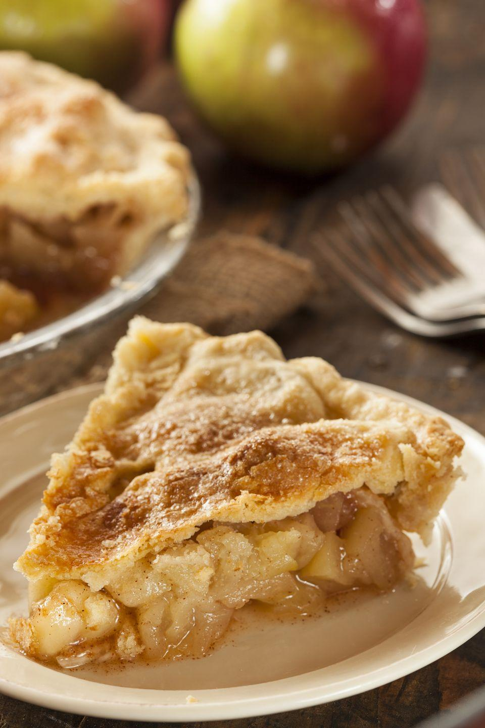 "<p>This apple pie recipe may be our fastest one yet. Make it in just over half an hour.</p><p><a href=""https://www.goodhousekeeping.com/food-recipes/dessert/a19293/apple-pie-recipe/"" rel=""nofollow noopener"" target=""_blank"" data-ylk=""slk:Get the recipe for The Easiest Apple Pie »"" class=""link rapid-noclick-resp""><em>Get the recipe for The Easiest Apple Pie »</em></a></p>"