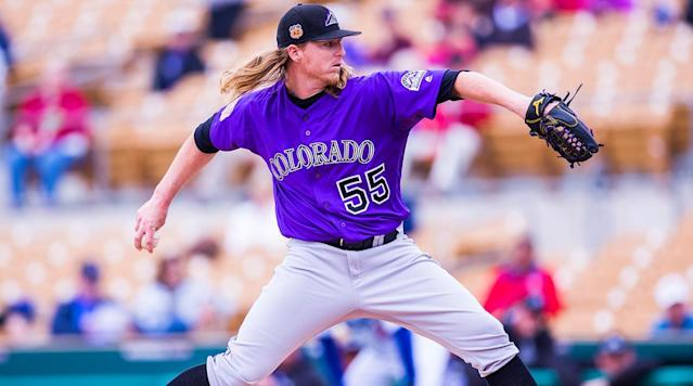 The 25-year-old Gray acquitted himself well as a rookie, becoming just the fifth Rockies pitcher under the age of 25 to post a qualifying season with an ERA+ of at least 100 (106, via a 4.61 ERA) and setting a team record for strikeout rate (9.9 per nine).