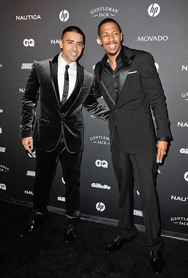 """Dad-to-be Nick Cannon and """"Down"""" singer Jay Sean made for a dapper duo. Cannon, whose wife Mariah Carey confirmed Thursday that she's pregnant, said the diva is more excited for Christmas than the spooky holiday this weekend. """"Maybe we'll be Mr. and Mrs. Saint Nick this year,"""" he told <a href=""""http://omg.yahoo.com/news/nick-cannon-holidays-will-be-even-bigger-this-year/49733"""" target=""""new"""">Us Weekly</a>. D Dipasupil/<a href=""""http://www.filmmagic.com/"""" target=""""new"""">FilmMagic.com</a> - October 27, 2010"""