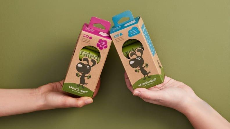 These hearty waste bags are made from recyclable materials.