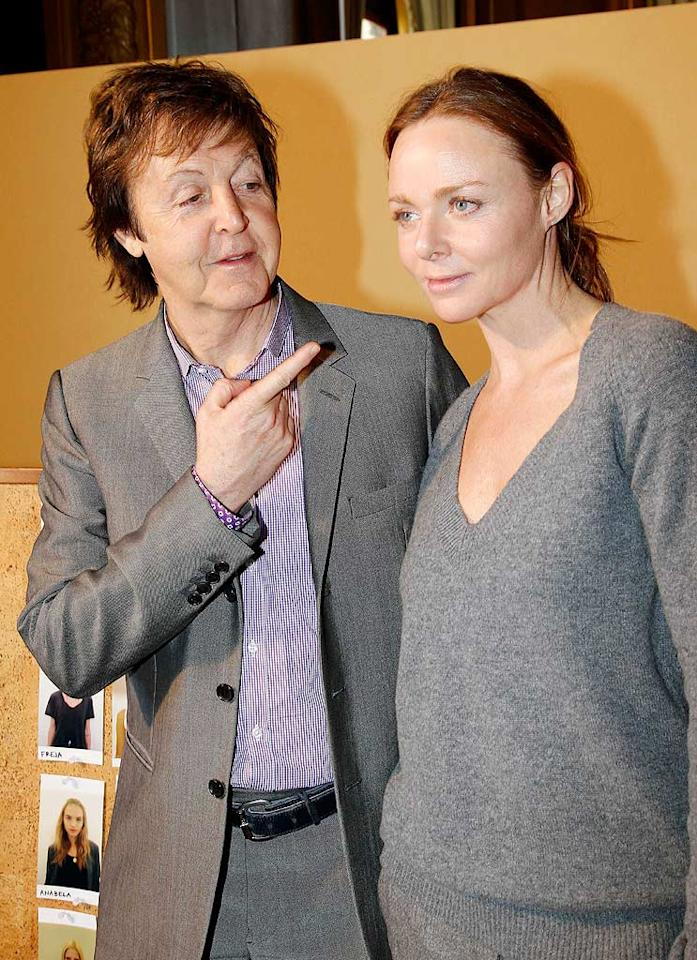 "Famous in her own right as a successful fashion designer, Paul McCartney's daughter Stella has designed for Chloe, Gucci, and her own eponymous label. An animal-rights activist, McCartney does not use fur or leather in any of her designs. Eric Ryan/<a href=""http://www.gettyimages.com/"" target=""new"">GettyImages.com</a> - March 8, 2010"