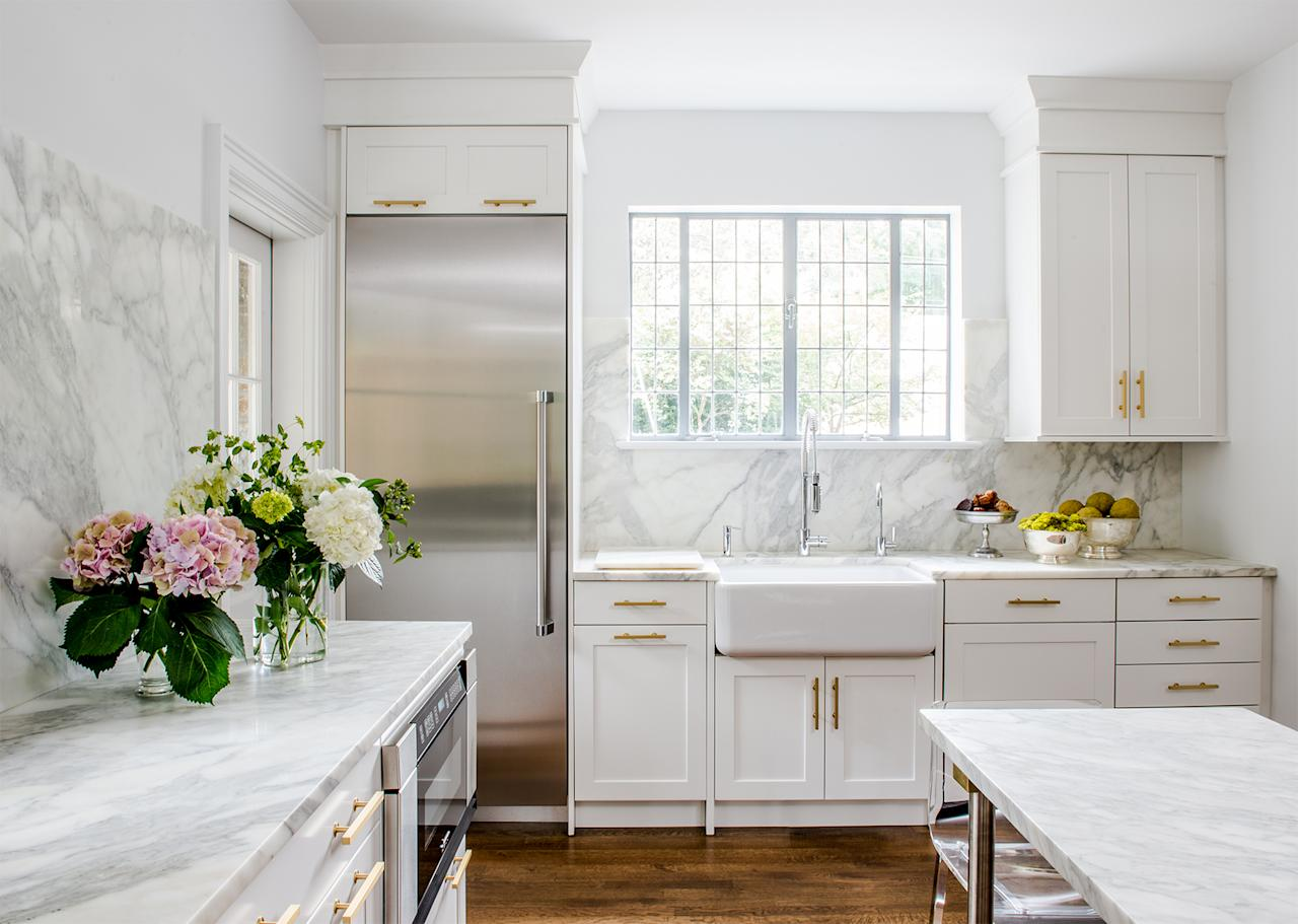 """<p>According to the <a href=""""https://store.nkba.org/products/2019-nkba-design-trends-report"""">National Kitchen &amp; Bath Association 2019 Design Trends Report</a>, slab backsplashes were the top choice for contemporary designs. """"A marble slab is <a href=""""https://www.marthastewart.com/1537061/athena-calderone-interior-design-kitchen"""">a modern and luxurious detail</a> to incorporate in your kitchen design,"""" says Nadia Subaran, co-founder of <a href=""""https://aidandesign.com"""">Aidan Design</a>. """"It can create a dramatic and bold statement and can help a small kitchen feel larger.""""</p>"""