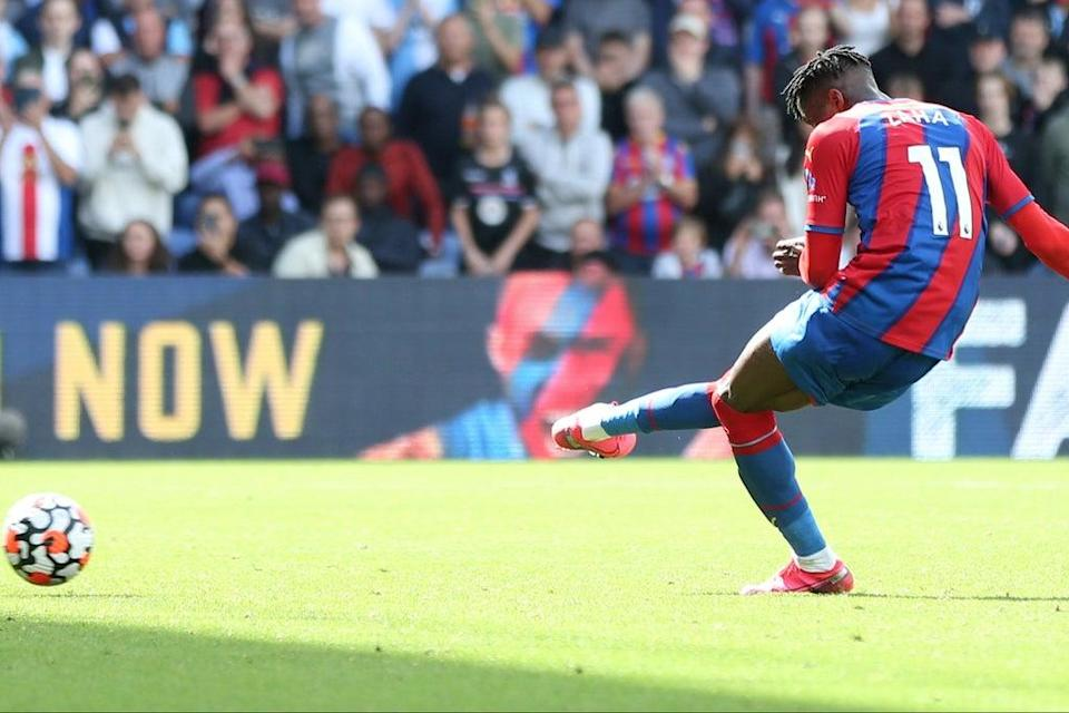 Wilfried Zaha's only goal so far this season came from the penalty spot against Spurs  (Getty Images)