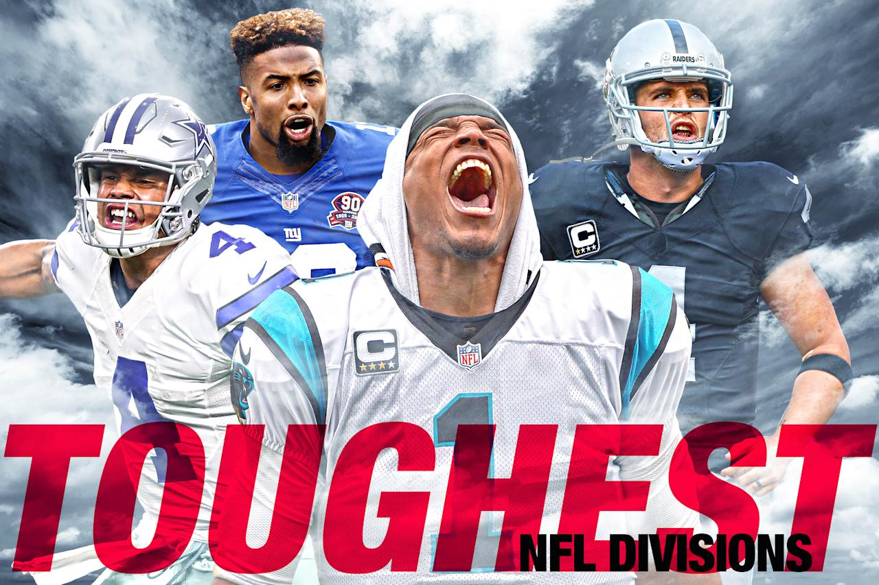 <p>Here are SDC's rankings of the NFL's eight divisions, from weakest to strongest. </p>