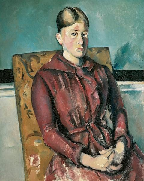 <span>Madame Cezanne with a Yellow Armchair, c 1890</span> <span>Credit: Private Collection </span>