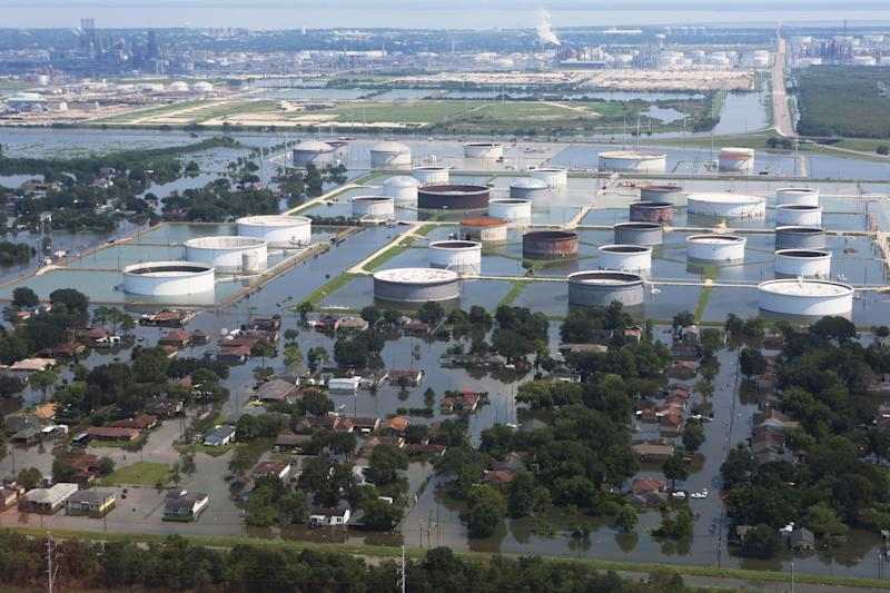 A lot of industry and infrastructure sustained damage during Hurricane Harvey, including railroads, roadways and various industrial plants. (Melissa Jeltsen/HuffPost)