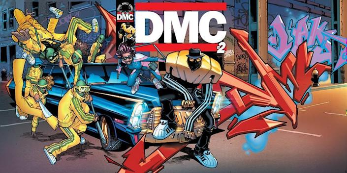 "An illustration from McDaniels's critically acclaimed graphic novel series, ""DMC."" (Image: DMC-Comics)"