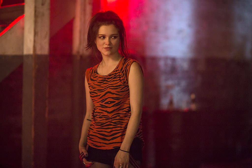 <p>Sophie Cookson as Sidney Pierce in Netflix's <i>Gypsy</i>.<br /><br />(Photo Credit: Alison Cohen Rosa/Netflix/Universal Television) </p>
