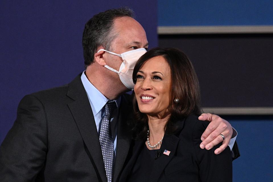 Kamala Harris's husband Doug Emhoff congratulated his wife on her VP win in a sweet tweet. (Photo: Robyn Beck / AFP)