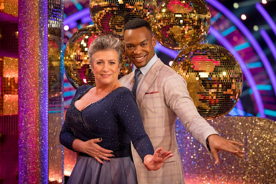 Caroline Quentin was partnered with Johannes Radebe on last year's series of Strictly. (Photo: BBC/Guy Levy)