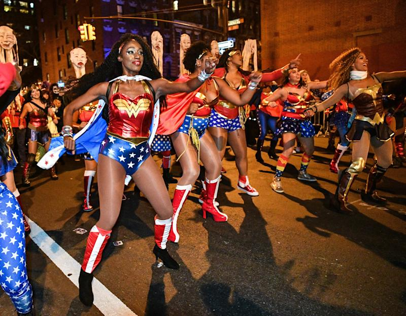 Halloween revelers attend the 44th Annual Village Halloween Parade on Tuesday. (Dia Dipasupil via Getty Images)