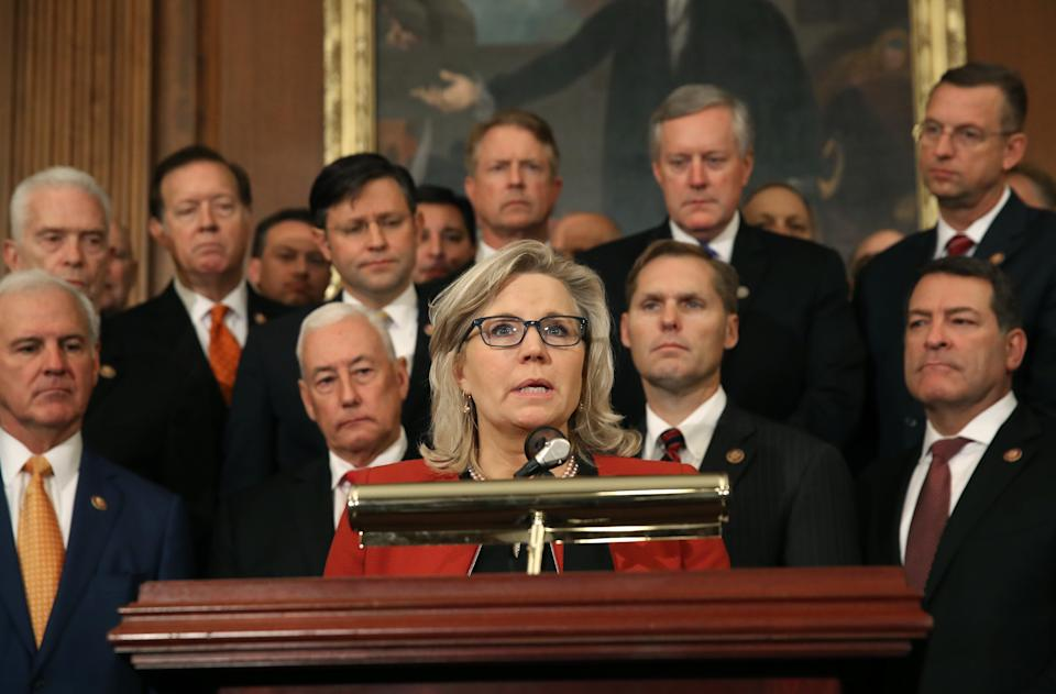 House Republicans pushed Rep. Liz Cheney, R-Wyo., from her leadership post after a long-running feud between her and former President Donald Trump.