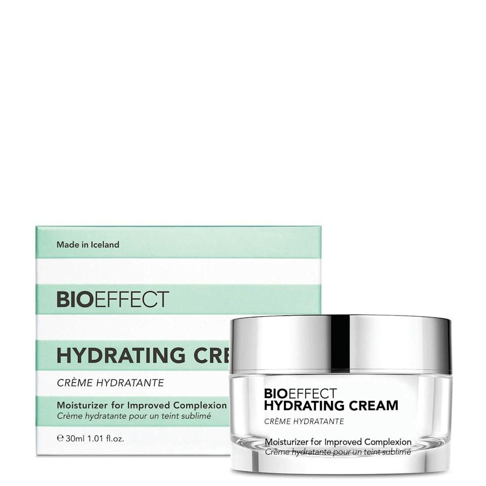 """<p><a class=""""link rapid-noclick-resp"""" href=""""https://www.lookfantastic.com/bioeffect-hydrating-cream-30ml/12855132.html"""" rel=""""nofollow noopener"""" target=""""_blank"""" data-ylk=""""slk:SHOP"""">SHOP</a></p><p><strong>Best for: all skin types</strong></p><p>This watery cream might feel lightweight, but it's packing a serious punch in the hydration stakes. Instead of calling on oils – which work well to soften the surface, but offer little else – it contains water-magnet hyaluronic acid as well as a signature barley-derived form of EGF (that's epidermal growth factor) which repairs damage at cell level, resulting in a firmer, more resilient face. </p><p>Bioeffect Hydrating Cream, £60, lookfantastic.com</p>"""