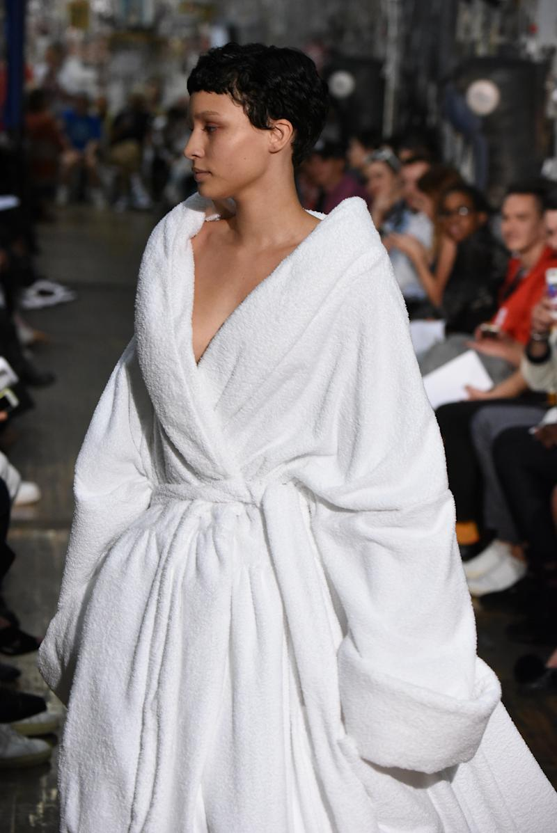 This robe could fit at least three people in it. (Albert Urso via Getty Images)