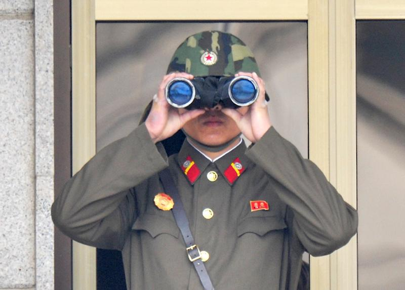A North Korean soldier at the truce village of Panmunjom in the demilitarised zone (AFP Photo/Kim Jae-Hwan)