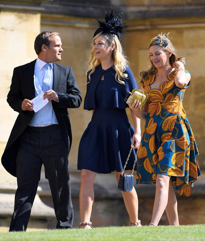 Chelsy Davy arriving with friends a Prince Harry's wedding to Meghan Markle