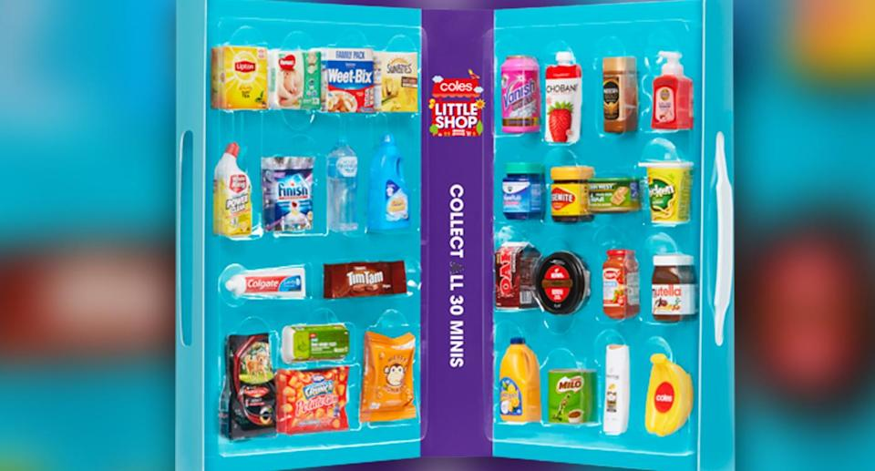 Coles shoppers have been taking to swap groups on Facebook and at supermarkets to try and collect all 30 items. Source: Coles