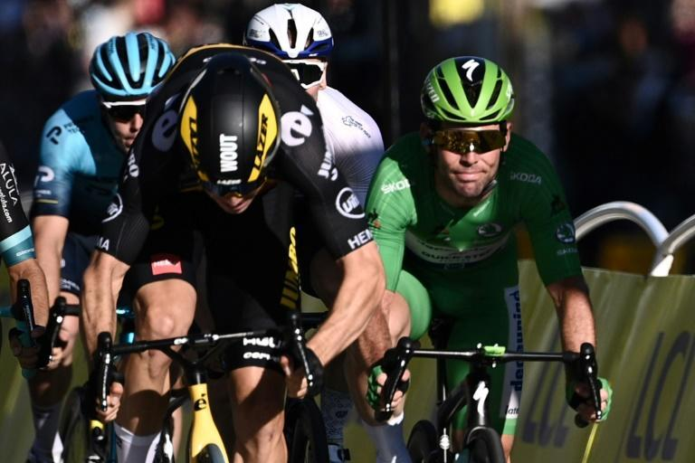 Wout van Aert won on the Champs-Elysees final stage