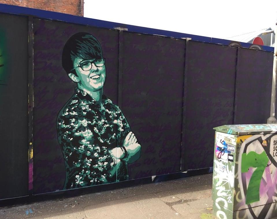 A mural in Belfast of Lyra McKee, who was shot dead in April 2009 (David Young/PA) (PA Archive)