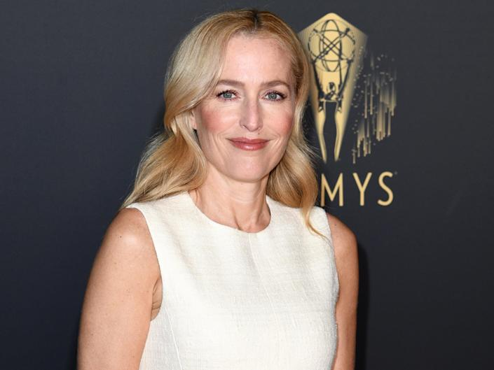 Gillian Anderson at the 73rd Primetime Emmys in London (Gareth Cattermole/Getty Images)