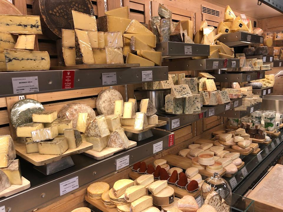 cheese in store