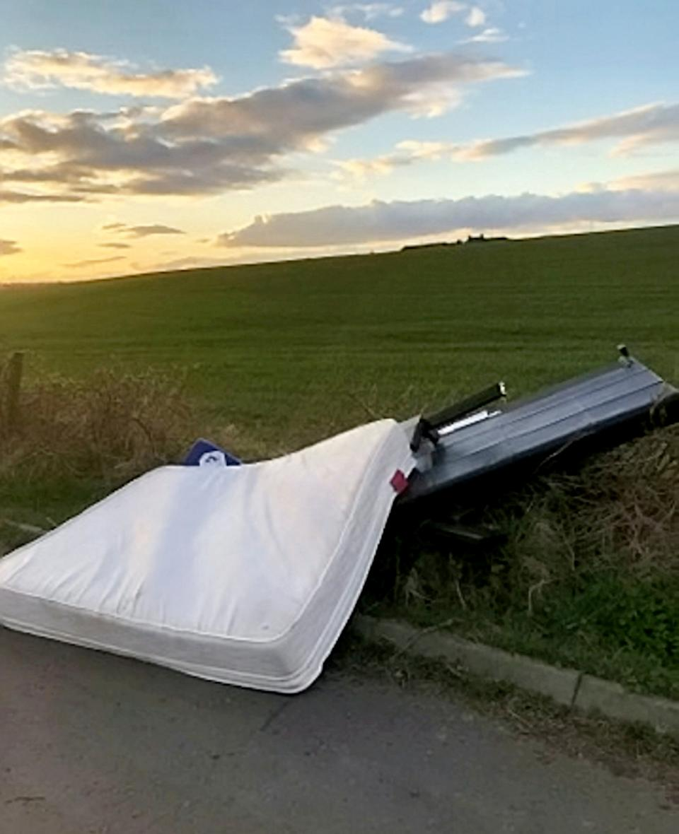 Councillors and officials have branded fly-tippers selfish and urged them not to dump waste. (Picture: SWNS)