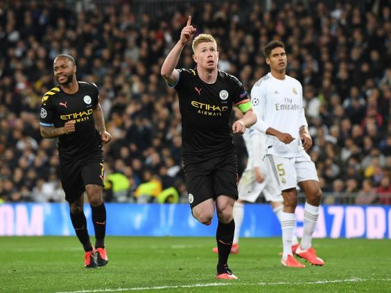 De Bruyne's goal has City in a positive position after the first-leg (Getty Images)