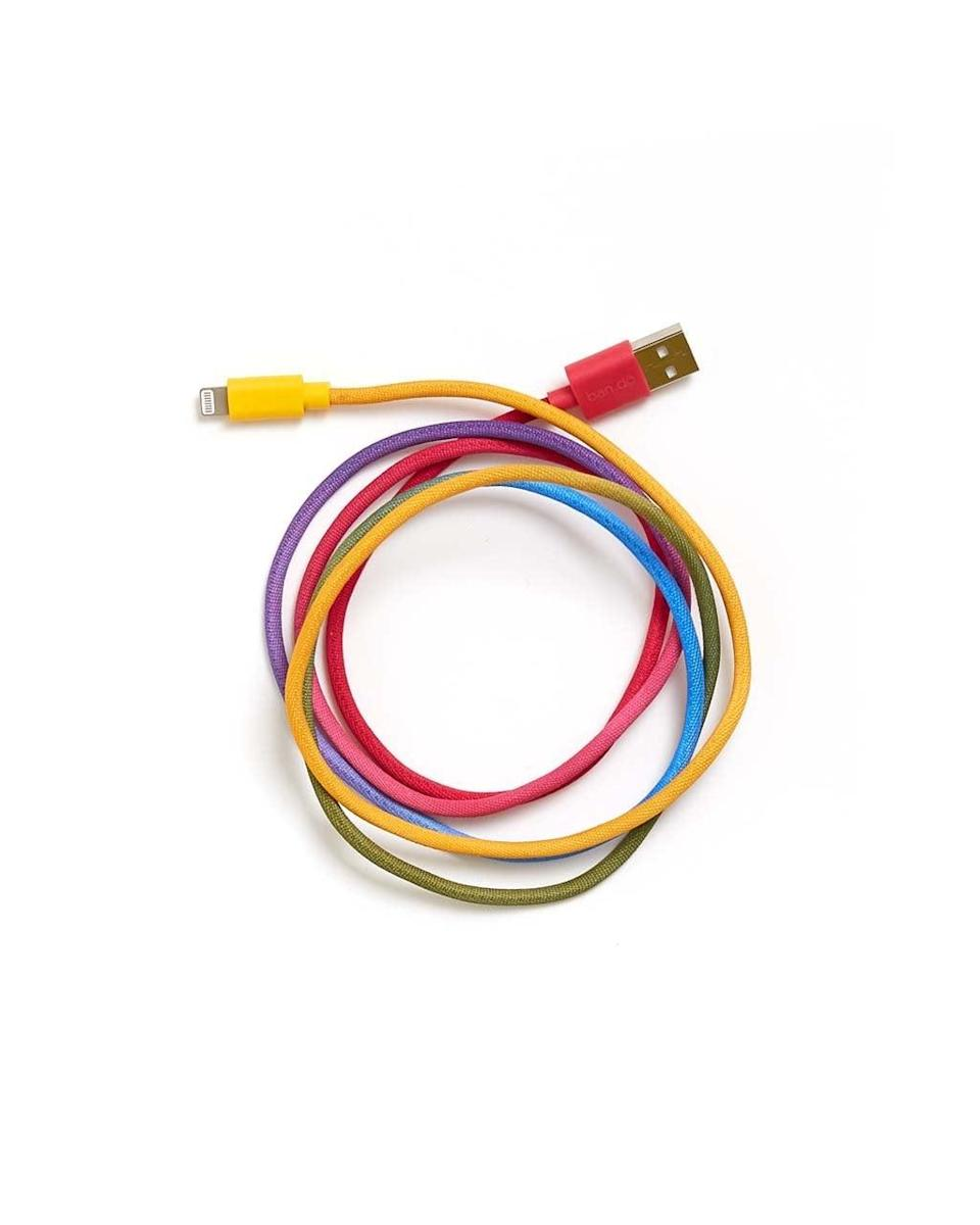 <p>They'll never lose their cord again with this rainbow <span>Ban.do Back Me Up! Charging Cord </span> ($18).</p>