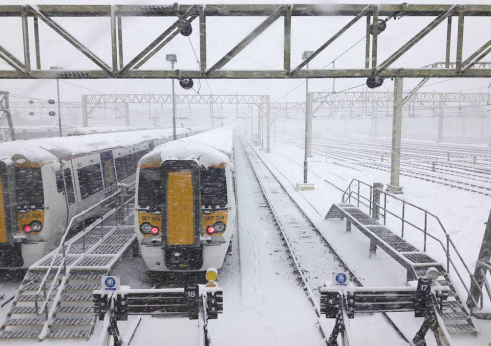 <em>Commuters in Shoeburyness, Essex, faced delays and cancellations as they struggled into work this morning (PA)</em>