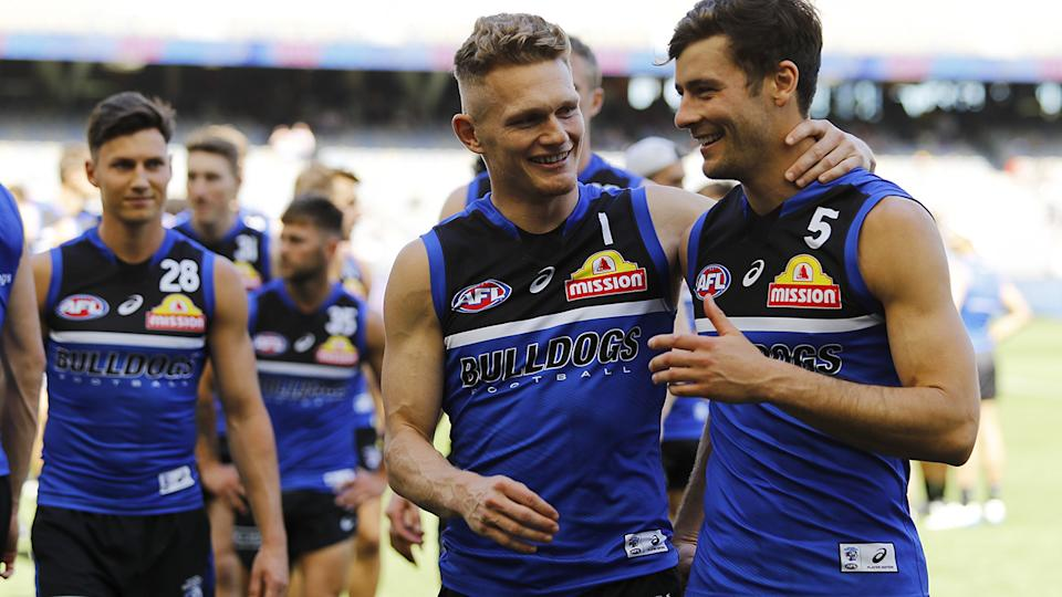 AFL clubs like the Western Bulldogs have already ensured their players have had at least the first dose of the coronavirus vaccine. (Photo by Dylan Burns/AFL Photos via Getty Images)