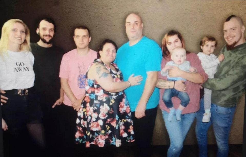 The family behind the business (L to R) Daisy Wiltshire, Kenny-Lee Richardson, Zack Richardson, Amanda Richardson, Lee Richardson, Stevie-Leigh Richardson, Benjamin Richardson, aged one, Skylar-Leigh Richardson, aged three, and Callum Richardson (Amanda Richardson/PA)