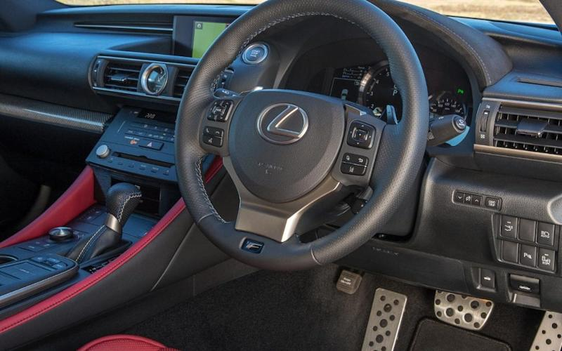 Lexus RC F steering wheel