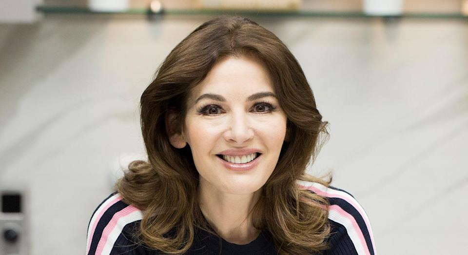 Nigella Lawson had admitted she uses washing up gloves to exfoliate. [Photo: Getty]