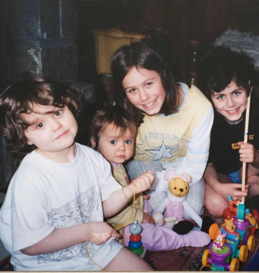 Win-win: Phoebe with her brother and sisters (Phoebe Luckhurst)