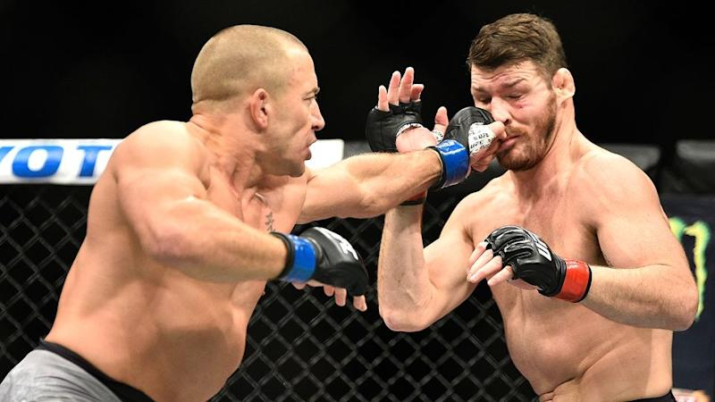 St-Pierre took out the title on his much-hyped return. Pic: Getty
