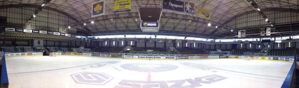 Panoramic view of Jaromir Jagr's Kladno arena. (#NickInEurope)