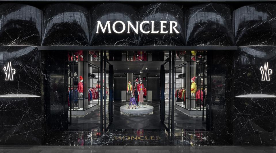 The facade of the Moncler store at Marina Bay Sands. (PHOTO: Moncler)