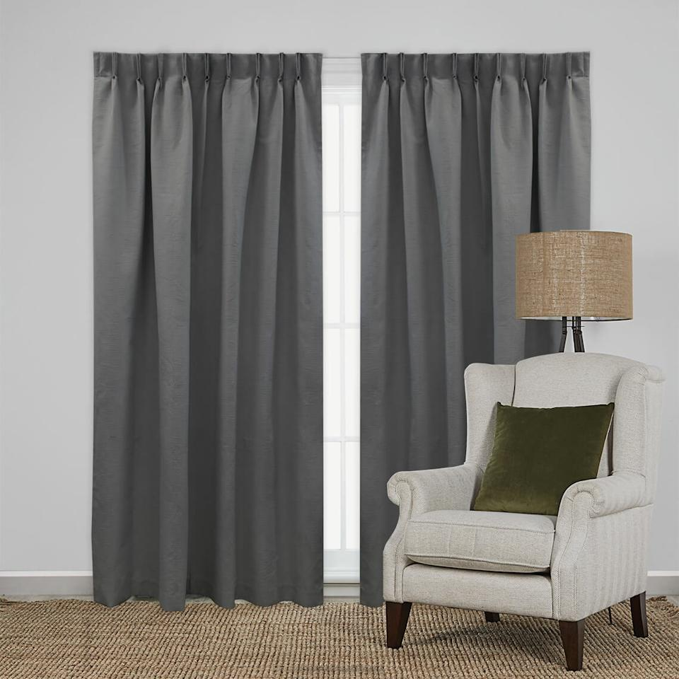 Freedom Tribute Blockout Pinch Pleat Curtain, $14.97 (on sale). Photo: Freedom.