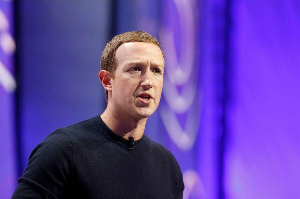 PHOTO: Mark Zuckerberg, chief executive officer and founder of Facebook Inc., speaks during the Silicon Slopes Tech Summit in Salt Lake City, Utah, Jan. 31, 2020. (Bloomberg via Getty Images)