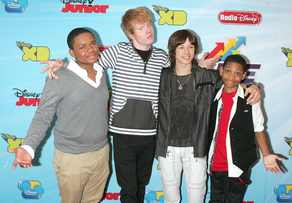 Doc Shaw, Adam Hicks, Leo Howard and Tyrel Jackson Williams attend the 2012-13 Disney Channel Worldwide Kids Upfront at the Hard  Rock Cafe - Times Square on March 13, 2012 in New York City.