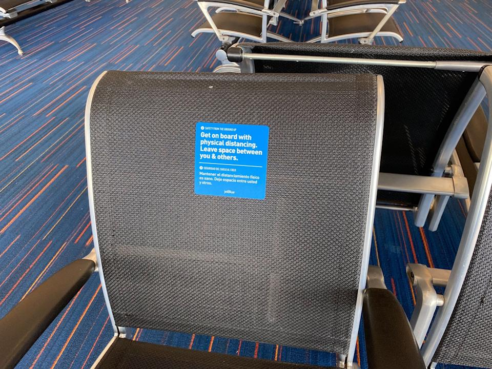 Flying on JetBlue Airways during the COVID-19 pandemic.