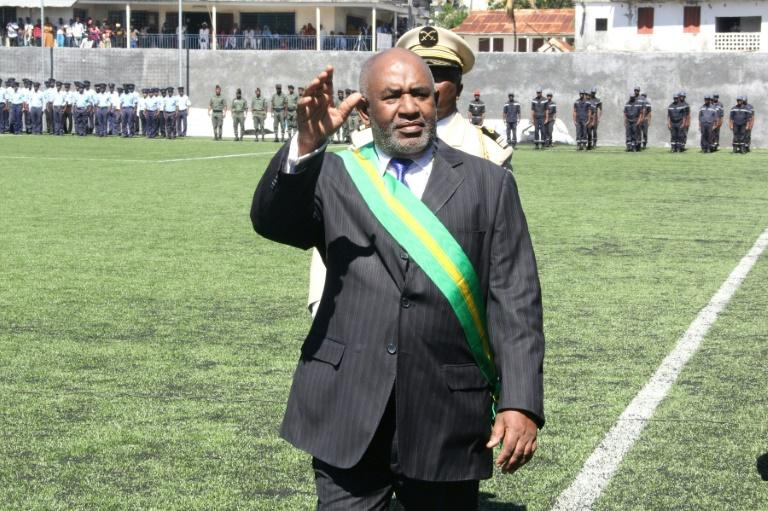 Cormoran President Azali Assoumani at his inauguration in May 2016. Critics say the former colonel is trying to undermine democracy