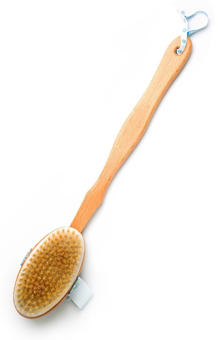 <p>Dry brushing is a meditative experience that also happens to be good for you. This <span>The Organic Pharmacy Dry Skin Brush</span> ($19) is a good pick.</p>