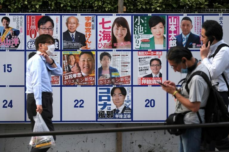 A record 22 candidates are running in the Tokyo election (AFP Photo/Kazuhiro NOGI)